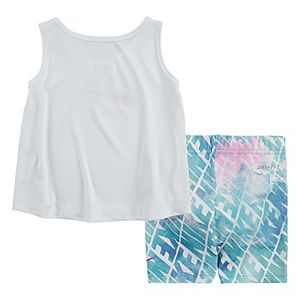 Baby Girl Nike Dri-FIT Studio Tank Top & Bike Shorts Set