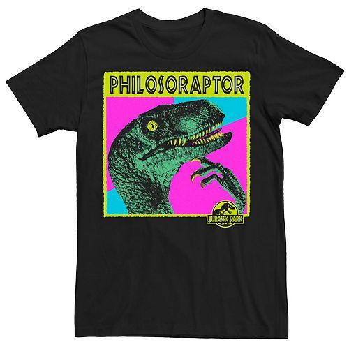 Men's Jurassic Park Philosoraptor Neon Colors Tee