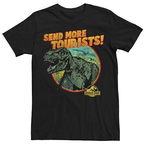 Men's Jurassic Park T-Rex Send More Tourists Tee