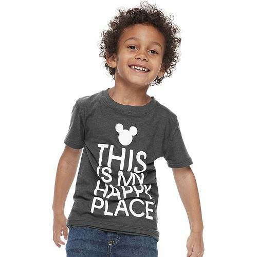 """Disney's Mickey Mouse Boys 4-7 """"Happy Place"""" Graphic Tee by Family Fun"""