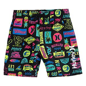 Toddler Boy Hurley Pull-On Tropical Board Shorts