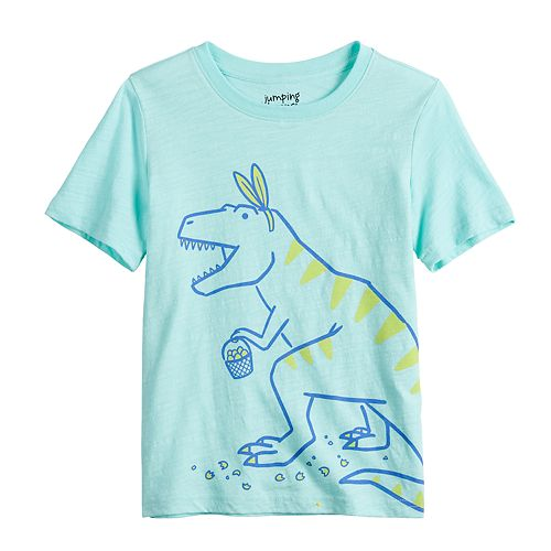 Boys 4-12 Jumping Beans® Easter Bunny Ears T-Rex Graphic Tee