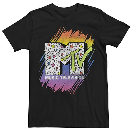 Men's MTV Retro Fill Logo Paint Smear Tee