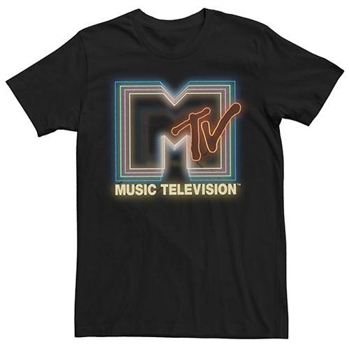 Men's MTV Neon Sign Logo Tee