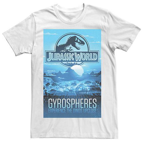 Men's Jurassic World Gyrospheres Tour Park Poster Tee