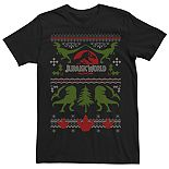 Men's Jurassic World Dinosaur Xmas Ugly Sweater Tee