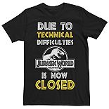 Men's Jurassic World Technical Difficulties Sign Tee