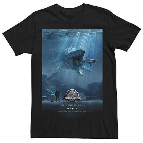 Men's Jurassic World Mosasaurus Movie Poster Tee