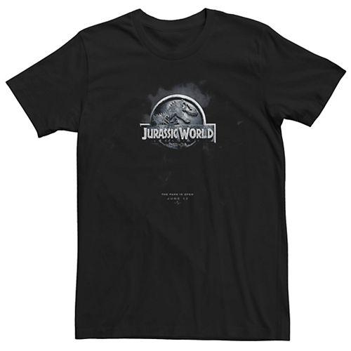 Men's Jurassic World Dark Logo Movie Poster Tee
