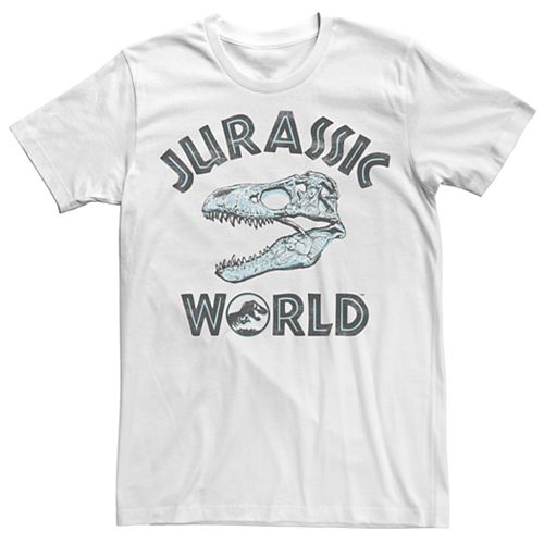 Men's Jurassic World Two T-Rex Pattern Skull Tee