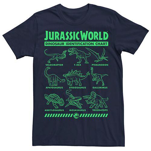 Men's Jurassic World Dino ID Chart Tee
