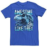 Men's Jurassic World Two Awesome Lke T-Rex Tee