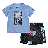 Baby Boy Hurley Dri-FIT Tee & Shorts Set