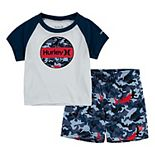 Baby Boy Hurley Dri-FIT UPF 50+ Rash Guard Top & Board Shorts 2-Piece Set