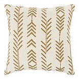 Donny Osmond Belle Gold & Navy Arrow Pillow