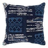 Donny Osmond Barry Blue & White Geo Pillow