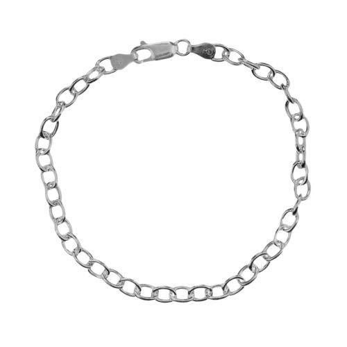 Sterling Silver Oval-Link Bracelet