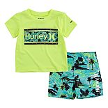 Baby Boy Hurley Dri-FIT UPF 50+ Rash Guard Top & Board Shorts