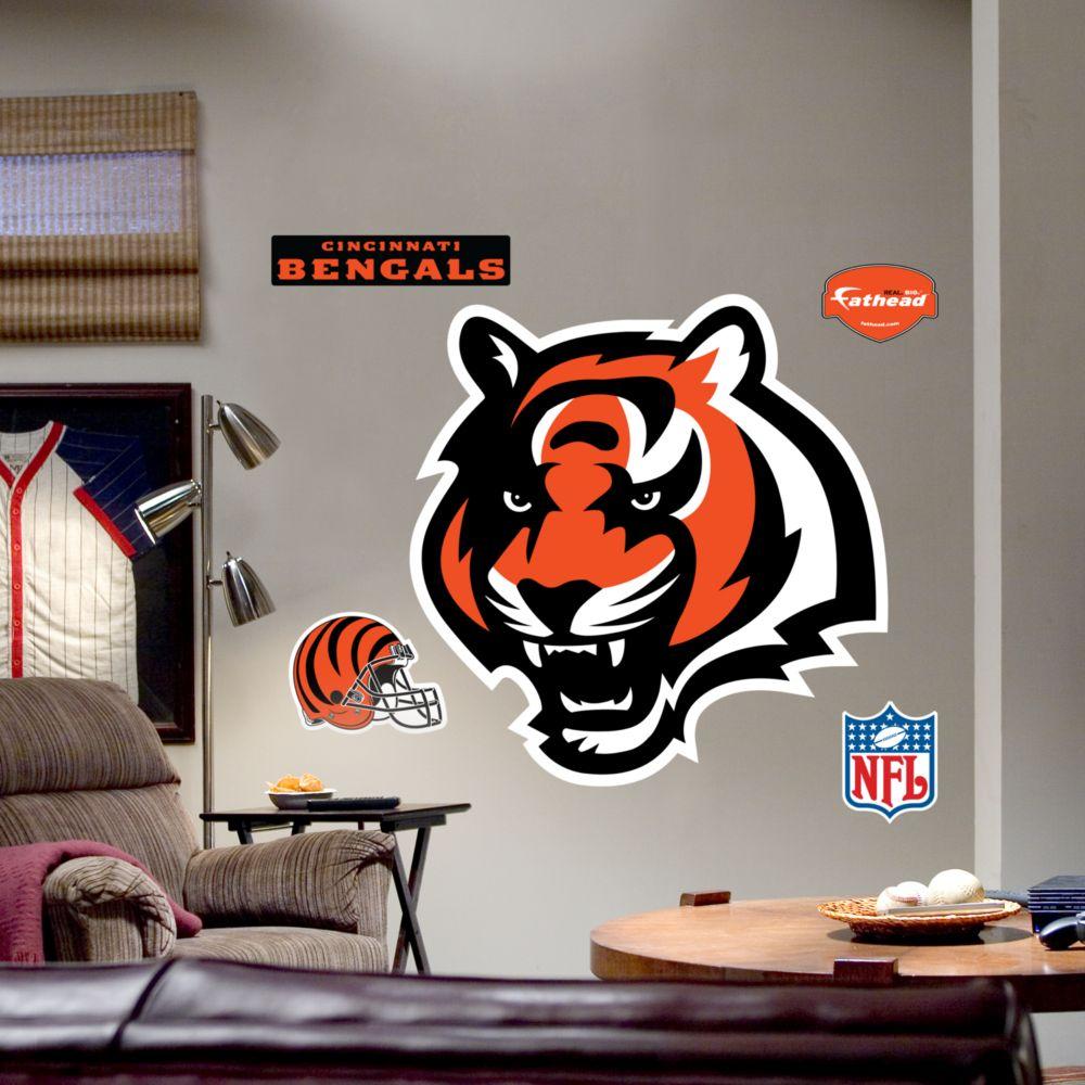100 nfl fatheads wall stickers amazon com nfl cleveland nfl fatheads wall stickers cincinnati bengals logo wall decal