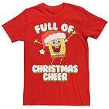 Men's Spongebob Squarepants Full Of Christmas Cheer Tee