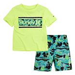 Toddler Boy Hurley UPF 50+ Tropical One & Only Top & Swim Trunks Set