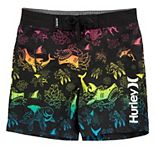 Toddler Boy Hurley Sharks Rainbow Board Shorts