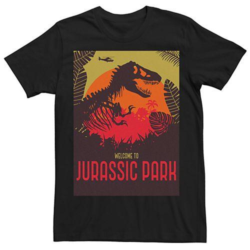 Men's Jurassic Park Welcome T-Rex Sunset Tee