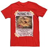 Men's Jurassic Park Missing Pet T-Rex Tee