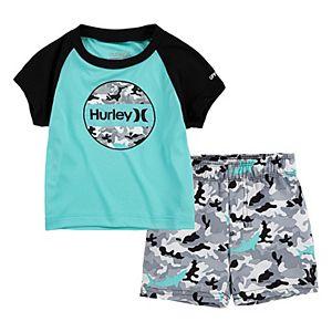 KIKO /& MAX Infant Boys Monkey Swim Suit Rash Guard /& Swim Trunks Surfs Up