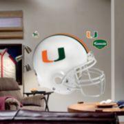 Fathead® University of Miami Hurricanes Helmet Wall Decal