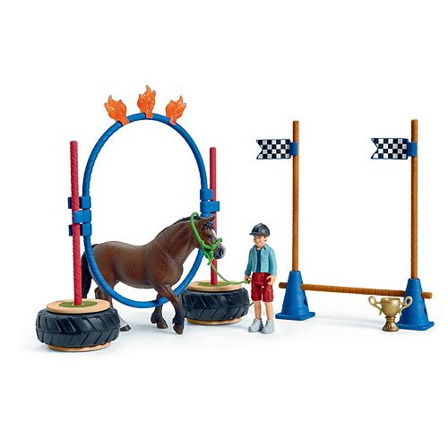 Schleich Farm World Pony Agility Race Playset with Toy Figures