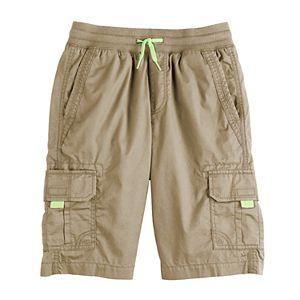 Boys 8-20 Urban Pipeline Knit Waist Band Cargo Shorts