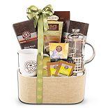 Alder Creek French Press & Tea Leaf Gift Basket