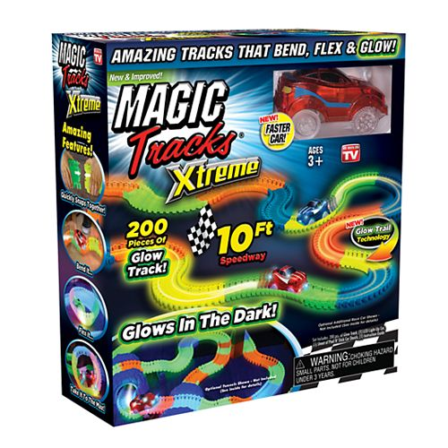 Magic Tracks Extreme Race Car & 10-Foot Glow in the Dark Race Track