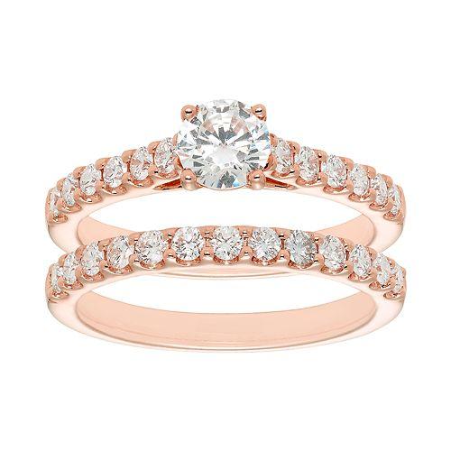 Evergreen Diamonds 14k Gold 1 1/4 Carat T.W. IGL Certified Lab-Grown Diamond Engagement Ring Set