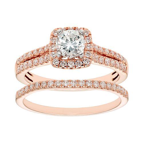 Evergreen Diamonds 14k Gold 1 Carat T.W. IGL Certified Lab-Grown Diamond Engagement Ring Set