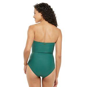 Women's Nicole Miller Draped Bandeau One-Piece Swimsuit