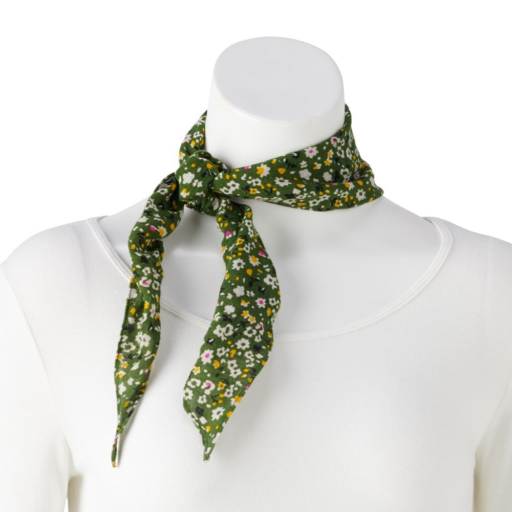 SO® Scatter Floral Print Bandana Kite Scarf
