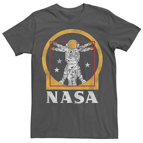 Men's NASA Astronaut Golden Vitruvian Space Man Tee