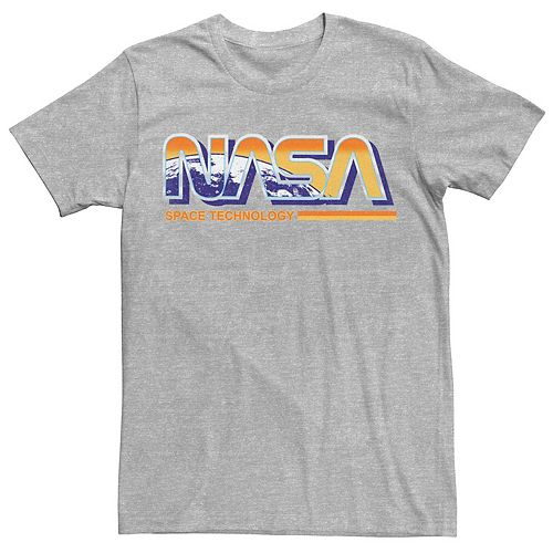 Men's NASA Space Technology Retro Rainbow Logo Tee