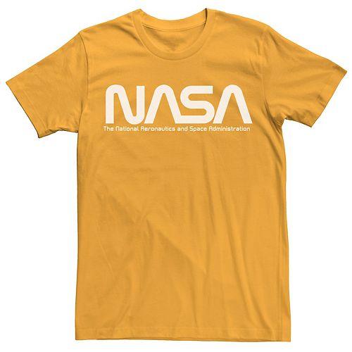 Men's NASA White Text Simple Logo Tee