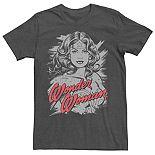 Men's DC Comics Wonder Woman Distressed Portrait Tee