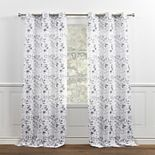 Chaps Home 2-pack Fresh Meadow Botanical Print Textured Linen Look Grommet Top Window Curtains