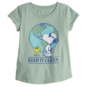 Toddler Girl Family Fun? Peanuts Snoopy Earth Day Graphic Tee