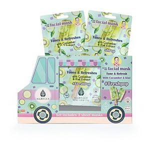 Biobelle Fresh Pop Truck Face Mask Set
