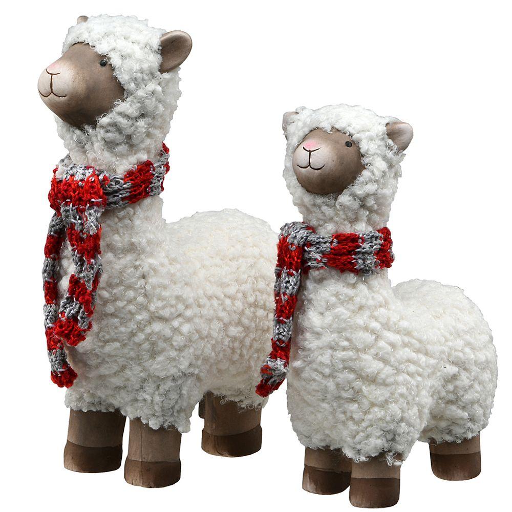 National Tree Company 2-Piece Wooly Sheep Holiday Decor Set