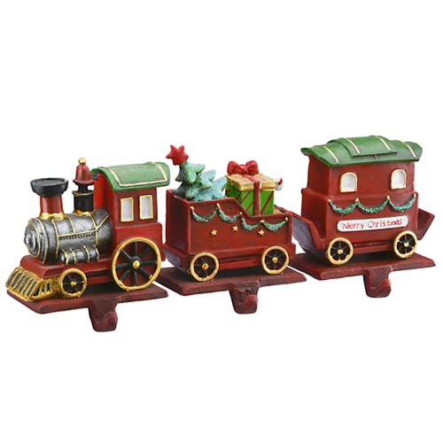 National Tree Company 3-Piece Train Car Stocking Holder Set