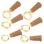 LumaBase 6-Piece Wine Cork With Fairy String Lights Set