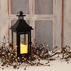 LumaBase 13-in. Metal Lantern & LED Candle 2-Piece Set