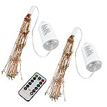 LumaBase Starburst Lights with Remote Control 2-pc. Set (Copper)